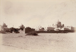 Hyderabad, Sindh. Talpur Tombs, general view from north-east.